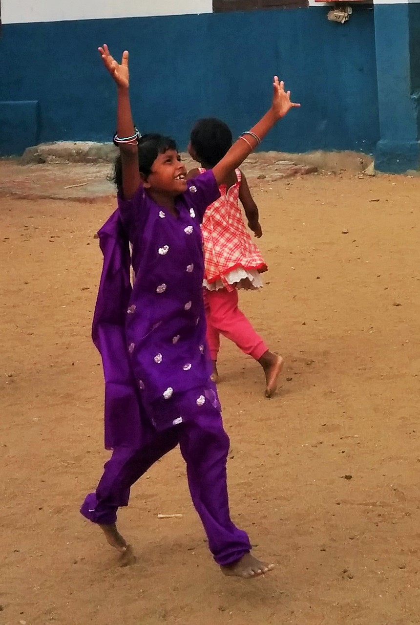 Surji being her usual happy and joyful self.