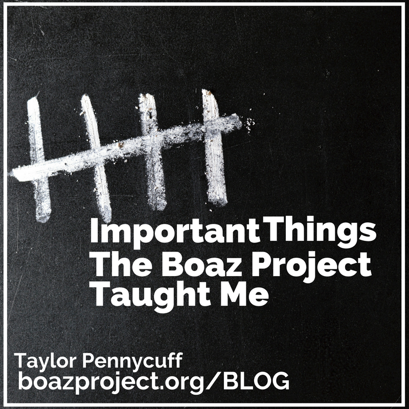 5 Things The Boaz Project Taught Me Graphic