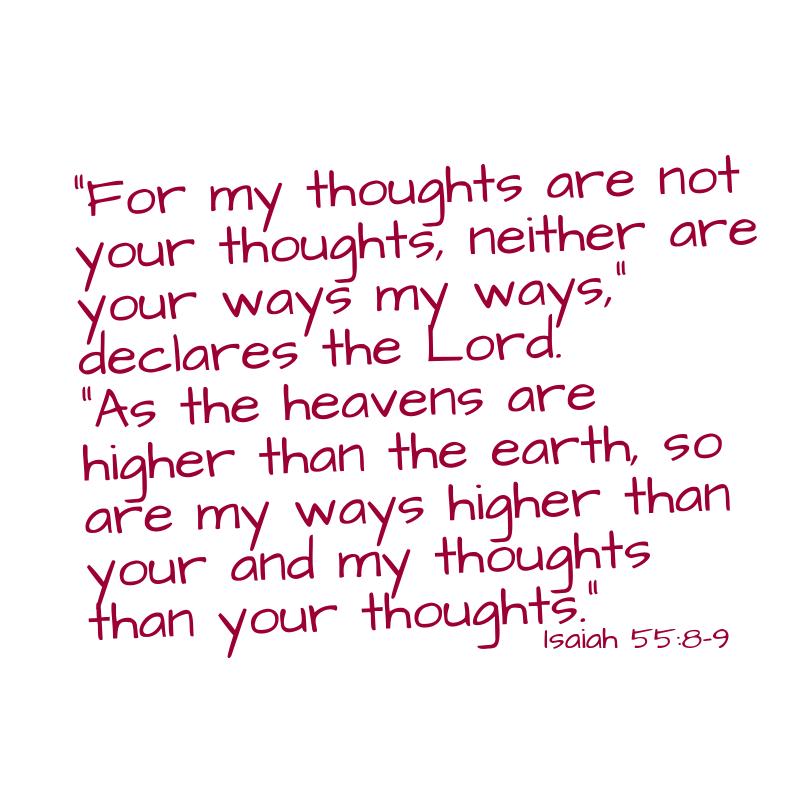 Isaiah 55:8-9 graphic